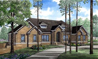 Traditional House Plan 61067 Elevation