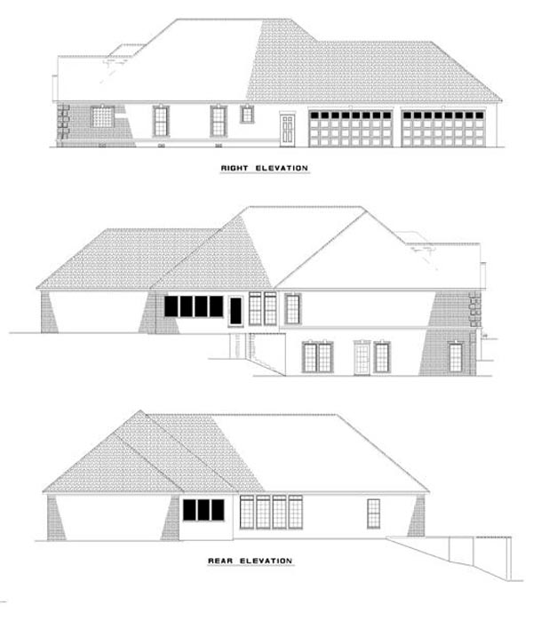 Traditional House Plan 61067 Rear Elevation