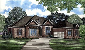 House Plan 61068 | Contemporary Southern Style Plan with 3568 Sq Ft, 3 Bedrooms, 5 Bathrooms, 2 Car Garage Elevation