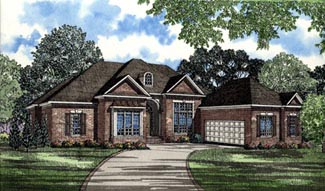 Contemporary, Southern House Plan 61068 with 3 Beds, 5 Baths, 2 Car Garage Elevation