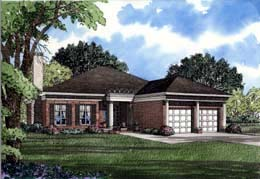 House Plan 61071 | Colonial Southern Style Plan with 3196 Sq Ft, 3 Bedrooms, 3 Bathrooms, 2 Car Garage Elevation