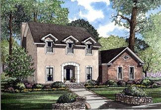 Colonial Southern House Plan 61073 Elevation