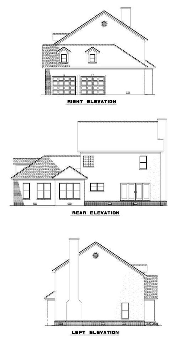 Colonial Southern House Plan 61073 Rear Elevation