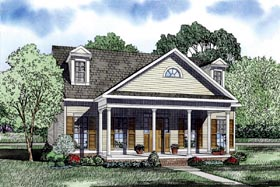 European Traditional House Plan 61075 Elevation