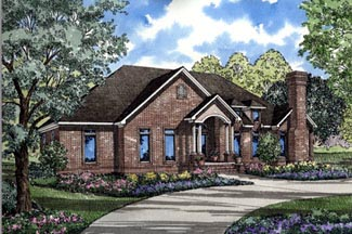 One-Story, Traditional House Plan 61078 with 4 Beds, 3 Baths, 3 Car Garage Elevation