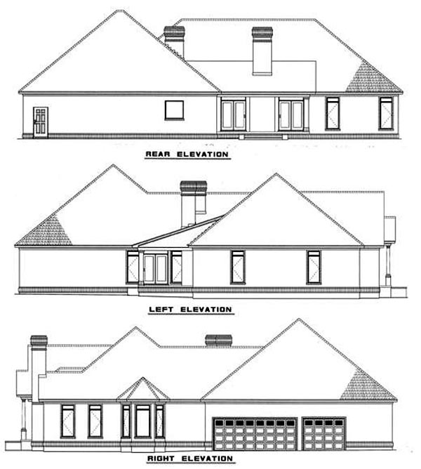 Traditional House Plan 61078 Rear Elevation