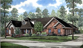 European Traditional House Plan 61079 Elevation
