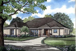 Contemporary European House Plan 61082 Elevation