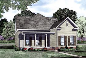 House Plan 61084 | Style Plan with 1802 Sq Ft, 2 Bedrooms, 2 Bathrooms, 2 Car Garage Elevation