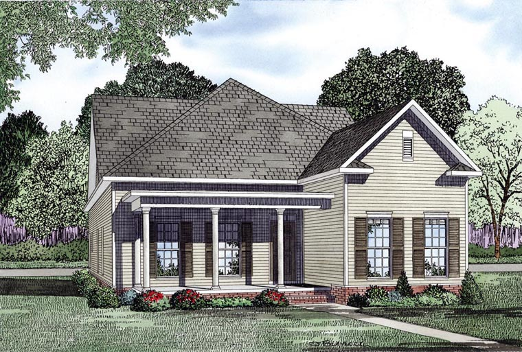 House Plan 61084 Elevation
