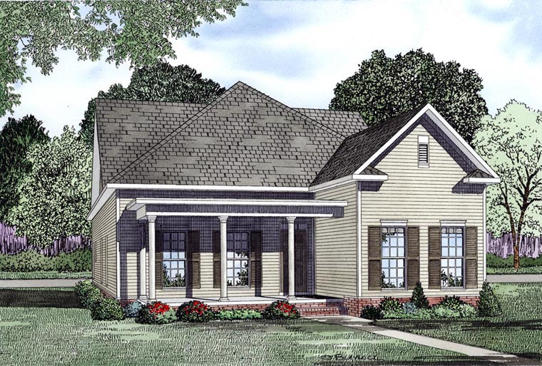 Colonial Southern House Plan 61087 Elevation