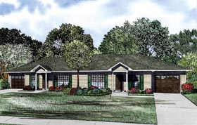 Multi-Family Plan 61089 Elevation