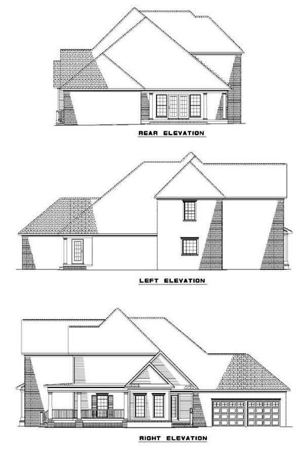 Country House Plan 61092 Rear Elevation