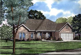 Southern House Plan 61096 with 4 Beds, 2 Baths, 2 Car Garage Elevation