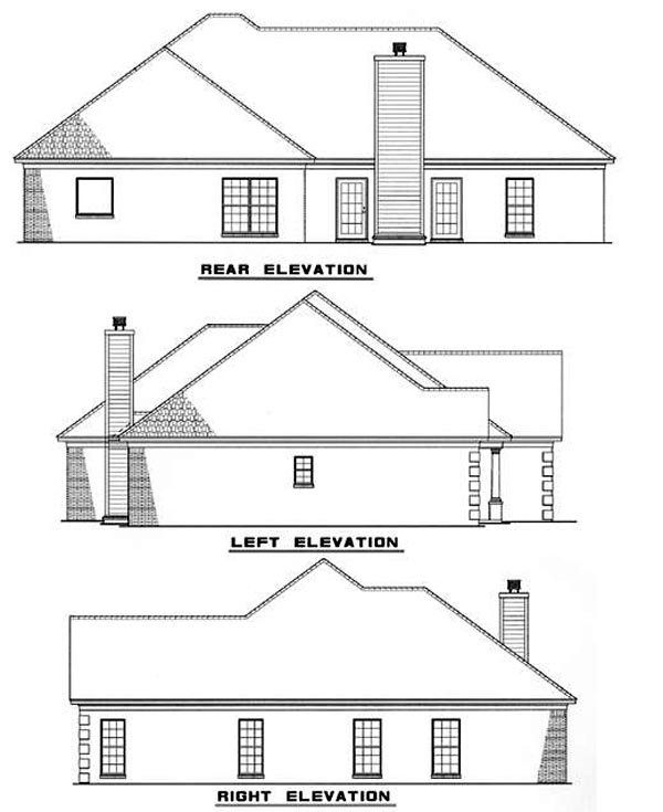 Southern House Plan 61096 Rear Elevation