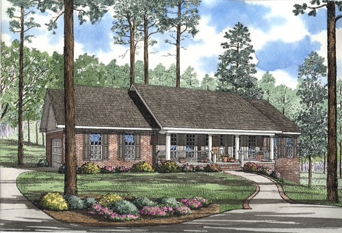 Country Ranch House Plan 61097 Elevation
