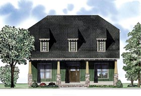European Traditional House Plan 61098 Elevation