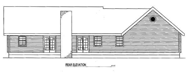 Log House Plan 61102 Rear Elevation