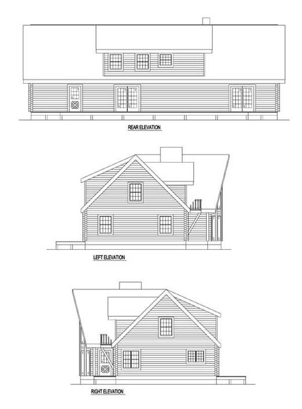 Log House Plan 61106 Rear Elevation