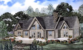Log House Plan 61107 with 3 Beds, 3 Baths Elevation