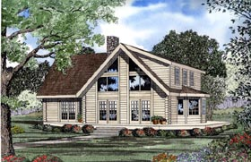 Contemporary House Plan 61108 Elevation