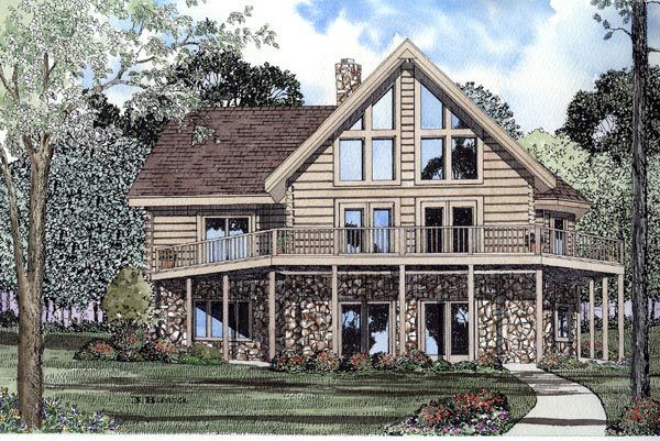 Contemporary House Plan 61109 Elevation