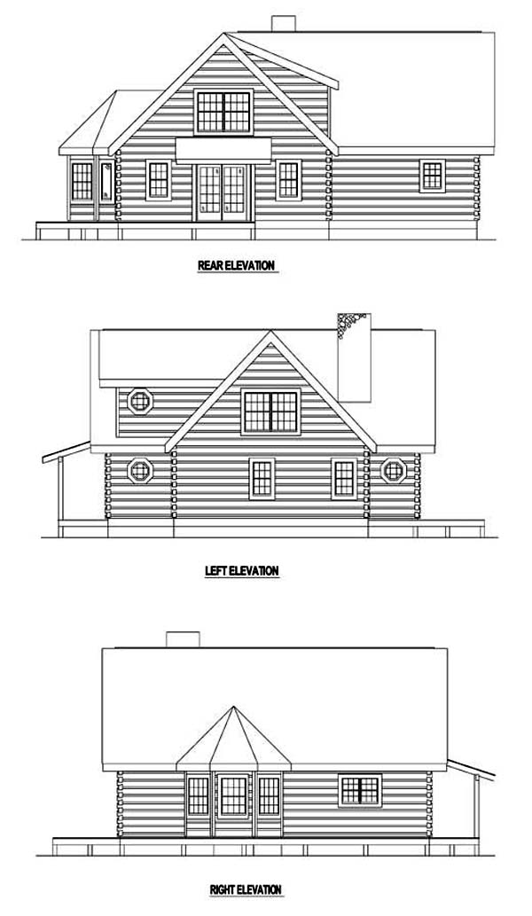 Contemporary House Plan 61109 Rear Elevation