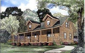 Log House Plan 61111 Elevation