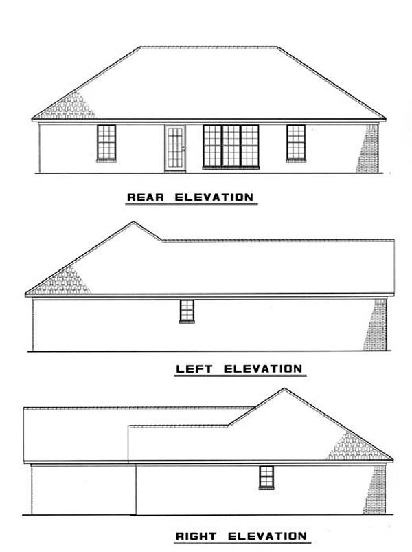 Traditional House Plan 61115 Rear Elevation