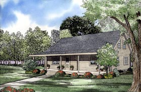 House Plan 61126 | Log Style Plan with 1769 Sq Ft, 4 Bedrooms, 3 Bathrooms Elevation