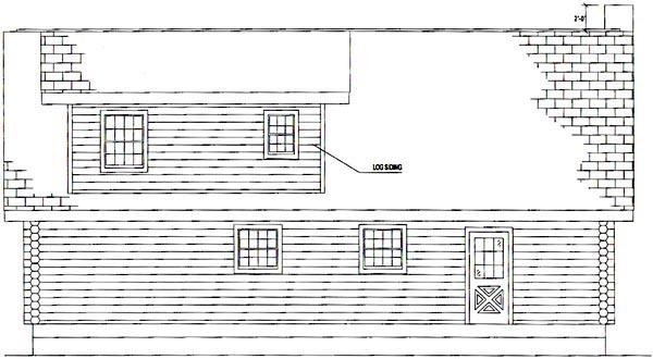 Log House Plan 61126 Rear Elevation