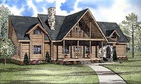 Log House Plan 61132 Elevation