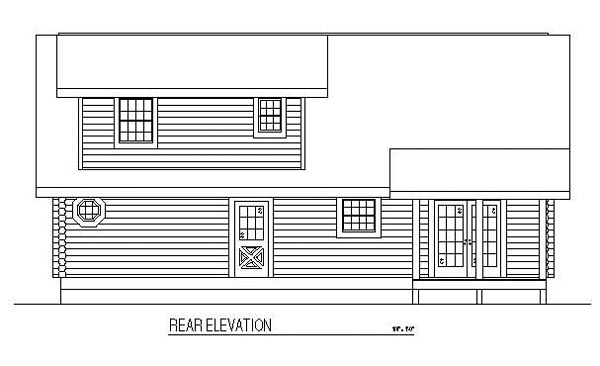 Country Log House Plan 61133 Rear Elevation