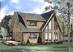 Log House Plan 61149 Elevation