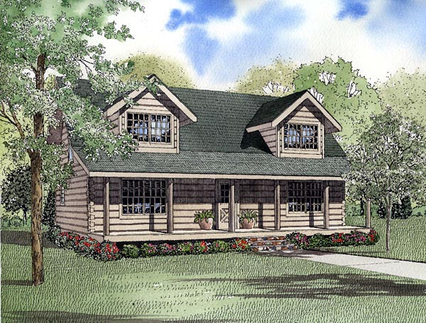 Country Log House Plan 61151 Elevation