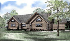 Log House Plan 61154 with 3 Beds, 3 Baths, 2 Car Garage Elevation