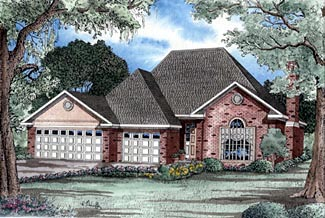 Traditional House Plan 61157 Elevation