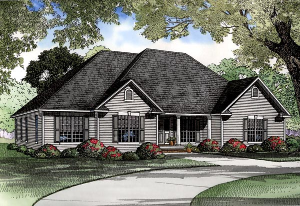 Traditional House Plan 61159 Elevation