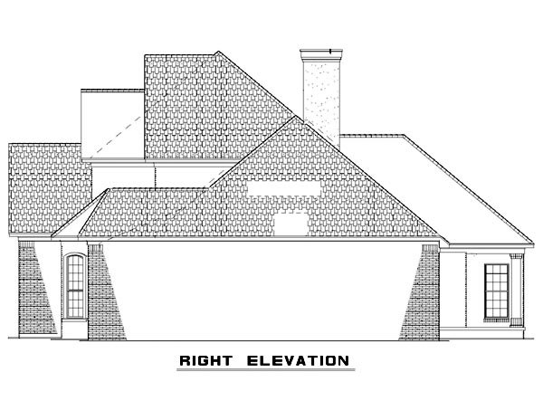 Traditional House Plan 61162 with 5 Beds, 3 Baths, 2 Car Garage Picture 4