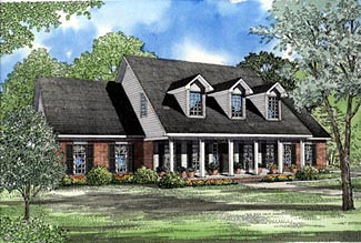 Country House Plan 61164 Elevation