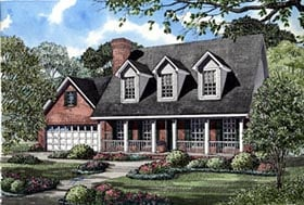 House Plan 61166 | Country Style Plan with 1783 Sq Ft, 3 Bedrooms, 3 Bathrooms, 2 Car Garage Elevation