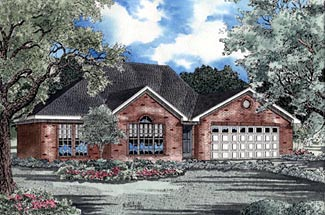 Traditional House Plan 61167 with 3 Beds, 2 Baths, 2 Car Garage Elevation