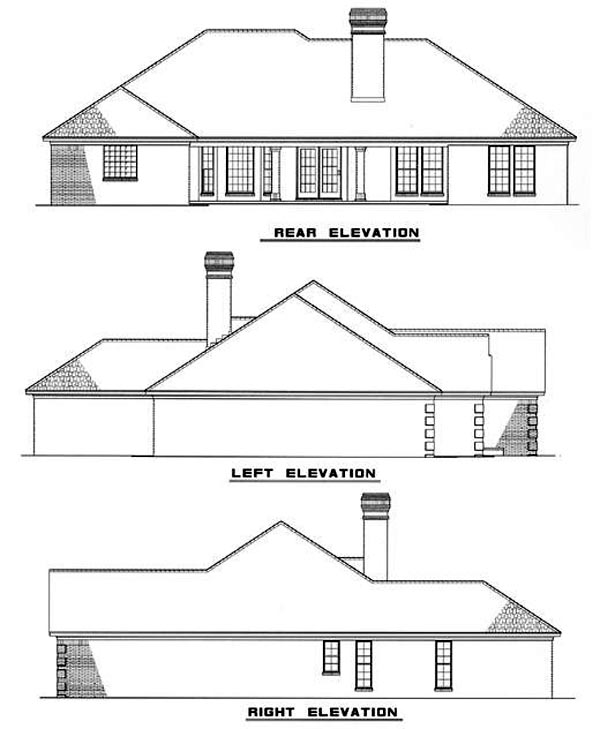 Traditional House Plan 61169 Rear Elevation