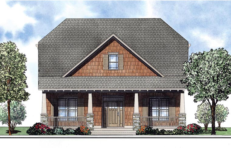 House Plan 61172 Elevation