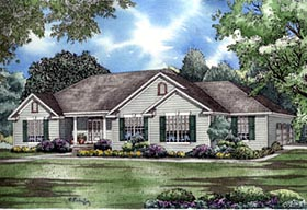 House Plan 61176 | European Traditional Style Plan with 2096 Sq Ft, 3 Bedrooms, 3 Bathrooms, 3 Car Garage Elevation