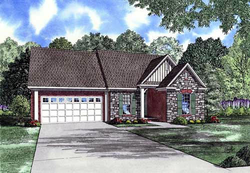 Craftsman House Plan 61178 Elevation