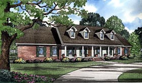 Traditional House Plan 61184 with 4 Beds, 4 Baths, 2 Car Garage Elevation