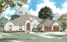 Traditional House Plan 61186 with 4 Beds, 3 Baths, 2 Car Garage Elevation