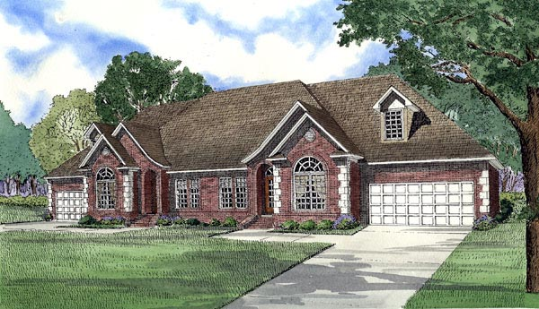 Traditional Multi-Family Plan 61190 Elevation
