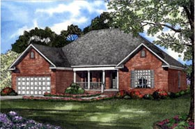 Country House Plan 61197 Elevation